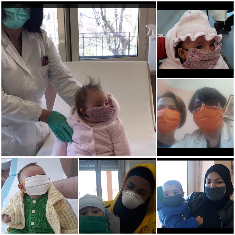 Ripartono le vaccinazioni, le sarte di San Benedetto dei Marsi donano mascherine per neonati ??