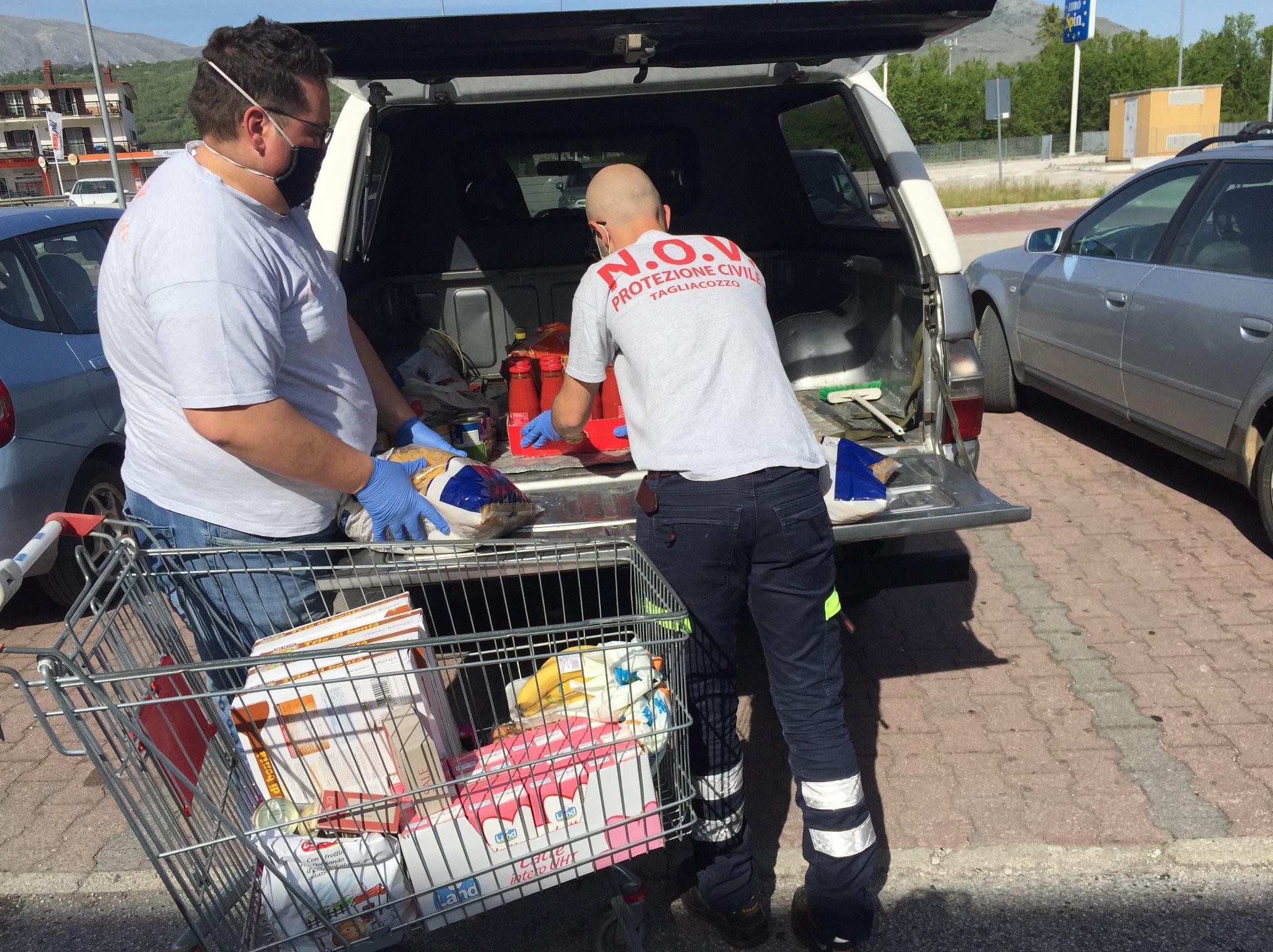 """Grande lavoro dei Volontari della Protezione Civile, Novpc di Tagliacozzo """"Andiamo avanti restandovi vicini, ma non abbassiamo la guardia"""""""
