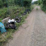 Rifiuti abbandonati in via del Sambuco ad Avezzano