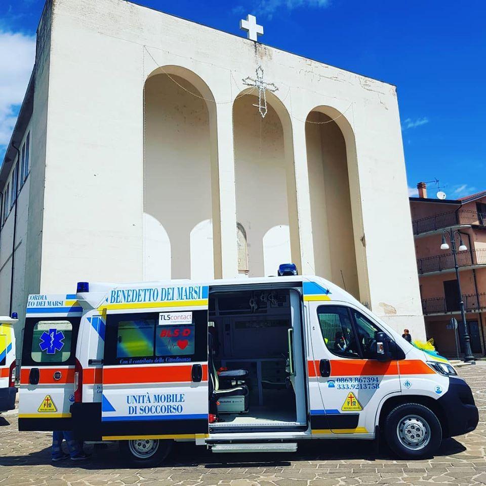 Oggi la benedizione della nuova ambulanza della Misericordia a San Benedetto dei Marsi