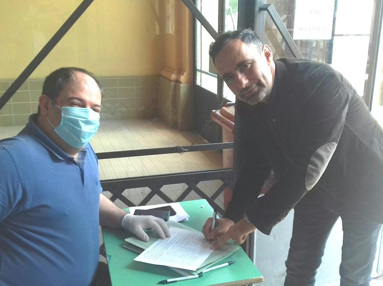 Il consigliere provinciale Gianluca Alfonsi, firma la petizione per il ripristino h24 dei PPI di Pescina e Tagliacozzo