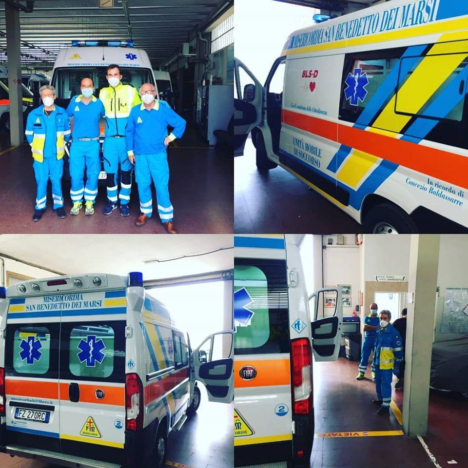 San Benedetto dei Marsi, arriva una nuova ambulanza per la Misericordia