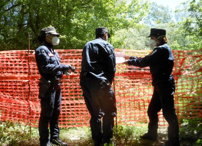 Carabinieri Forestali sequestrano due discariche abusive per una superficie complessiva di circa 5000 mq