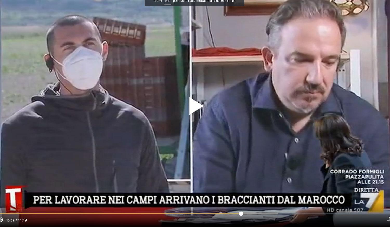 """Lavoratori per il Fucino, su La7 la testimonianza dell'imprenditore marsicano Patrizio Venditti, """"Difficile reperire manodopera specializzata"""""""