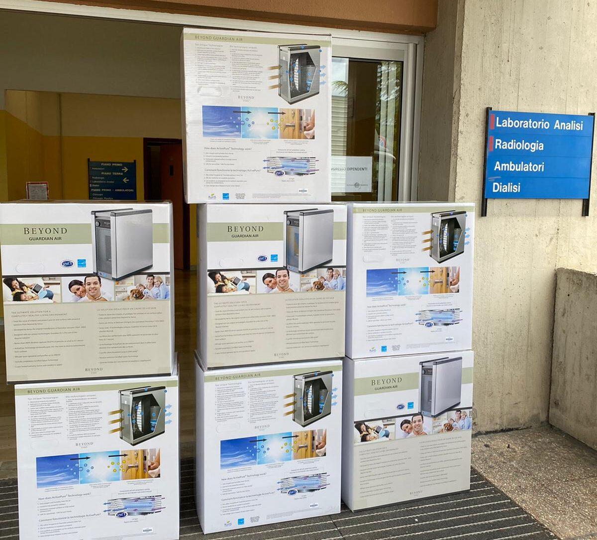 Consegnati 10 decontaminatori ambientali all'Ospedale di Avezzano