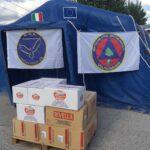 Tagliacozzo, la Divella consegna generi alimentari alla Protezione Civile