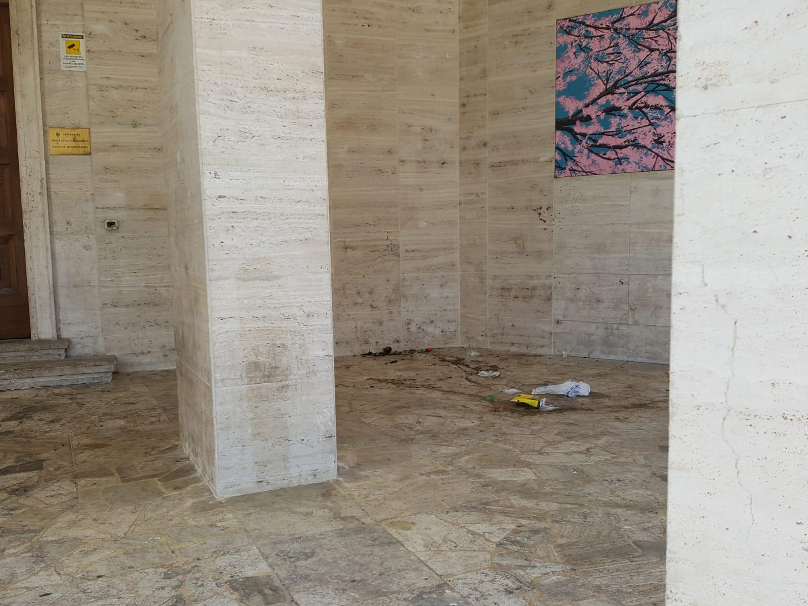 Il liceo classico di Avezzano rischia di diventare una bomba sanitaria: escrementi e degrado la fanno da padrone