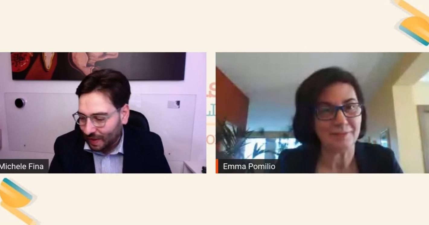 """Emma Pomilio intervistata da Michele Fina nella rubrica culturale """"Brevi cenni sull'universo"""""""
