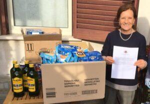 L'Associazione Veronica Gaia di Orio con i propri volontari in aiuto alle famiglie del territorio in difficoltà