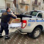 La Protezione Civile di Tagliacozzo dona generi alimentari alla Protezione Civile di Sante Marie per sostenere le famiglie in difficoltà economica