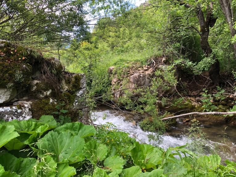Crollo del ponte sul fiume Giovenco, sentiero del Parco interrotto