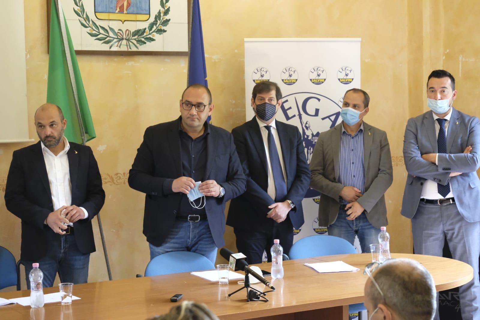 Dopo il lancio di Salvini all'Aquila, i vertici della Lega Abruzzo incoronano Tiziano Genovesi come candidato sindaco di Avezzano