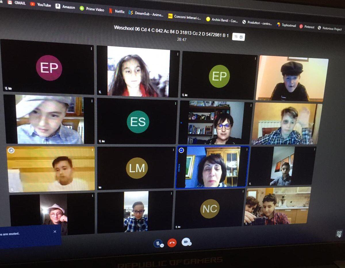 Gli alunni della quinta C della scuola primaria di via Delle Industrie di Avezzano, attori virtuali