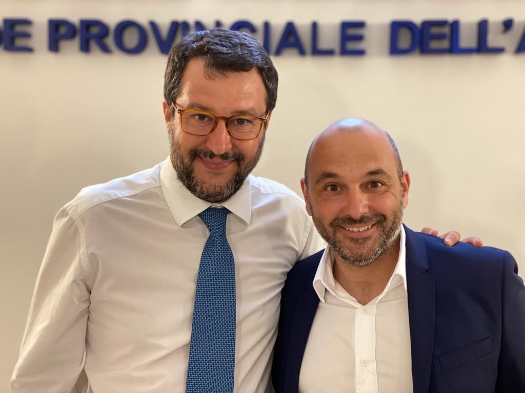 Oggi Matteo Salvini ad Avezzano incontra il candidato sindaco Tiziano Genovesi