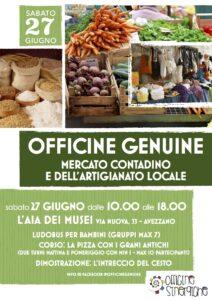Officine genuine: Sabato 27 giugno riparte il mercato contadino e dell'Artigianato ad Avezzano