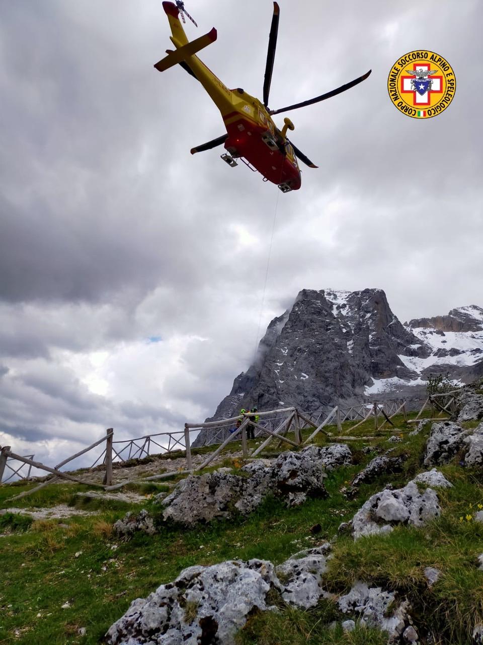 Soccorsi in montagna, quattro interventi in poche ore in Abruzzo