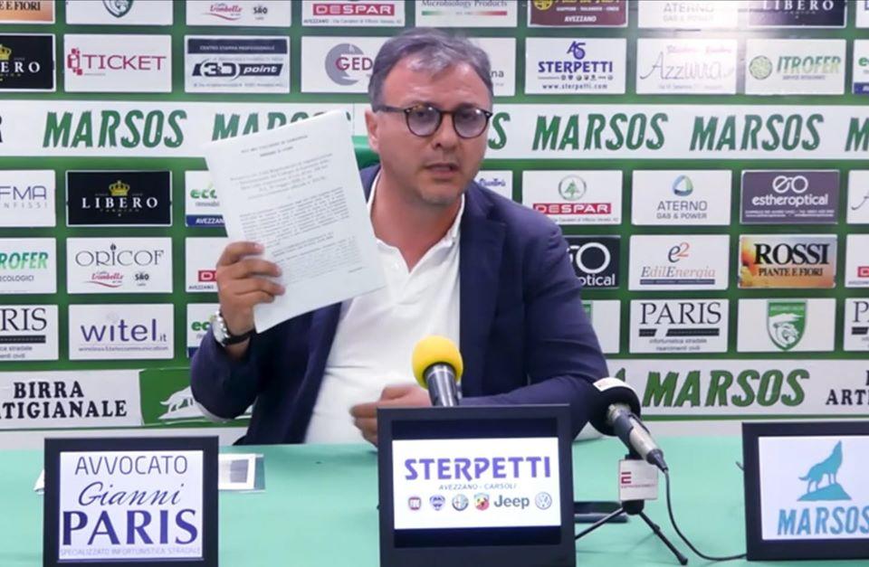 Avezzano Calcio, martedì 23 giugno si terrà l'udienza al ricorso contro la retrocessione