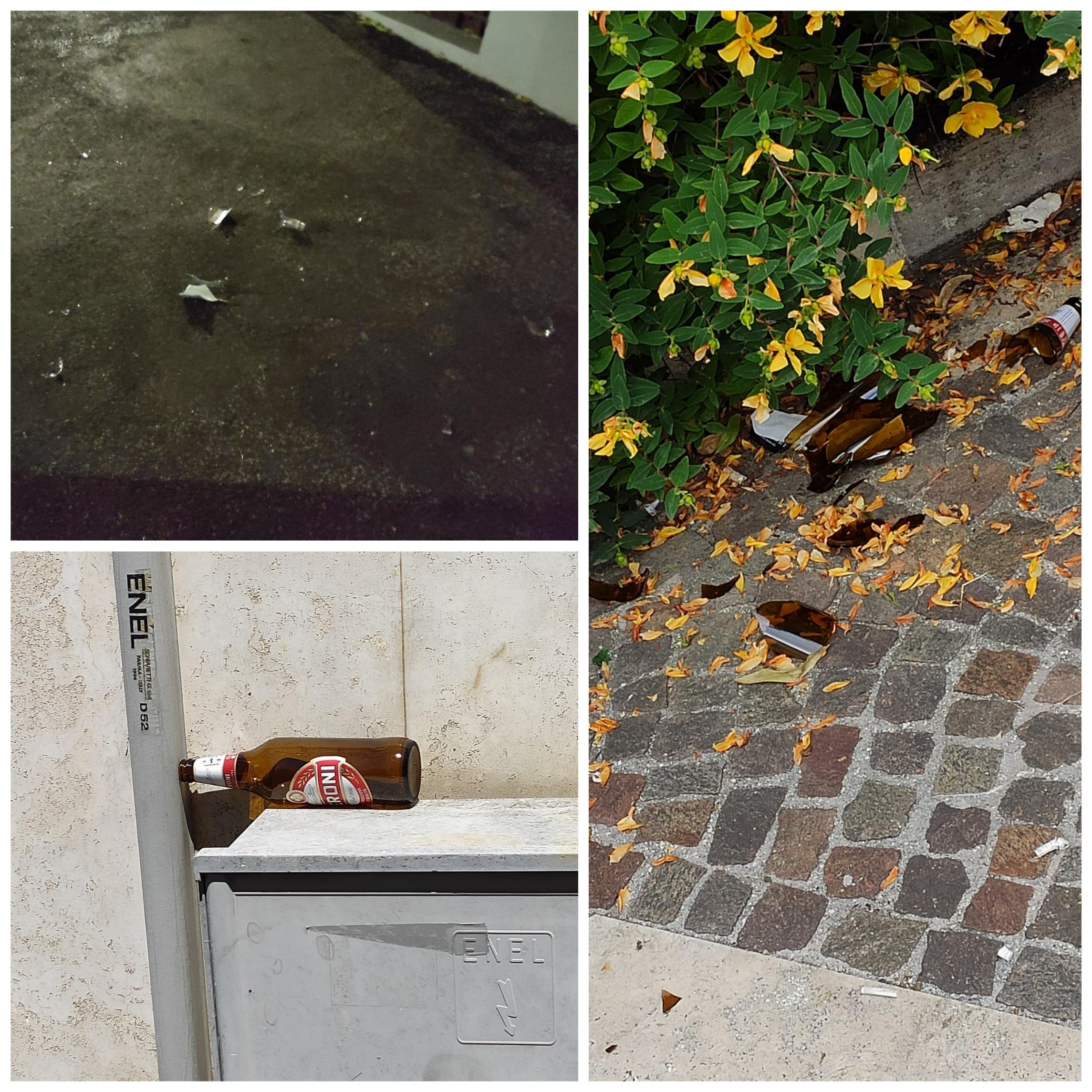 Avezzano, giovani ubriachi danneggiano arredi urbani e lanciano bottiglie contro abitazioni. Residenti costretti ad uscire di notte