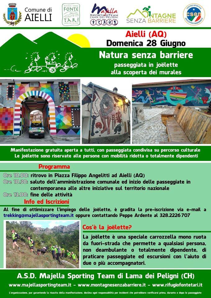 Aielli, la Majella Sporting Team offrirà un giro per Borgo Universo a coloro che hanno problemi di deambulazione