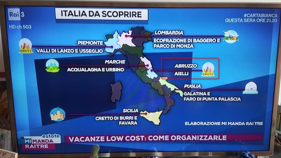 'Mi manda RaiTre estate' inserisce Aielli tra le località italiane da scoprire