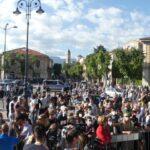 Matteo Salvini è arrivato ad Avezzano