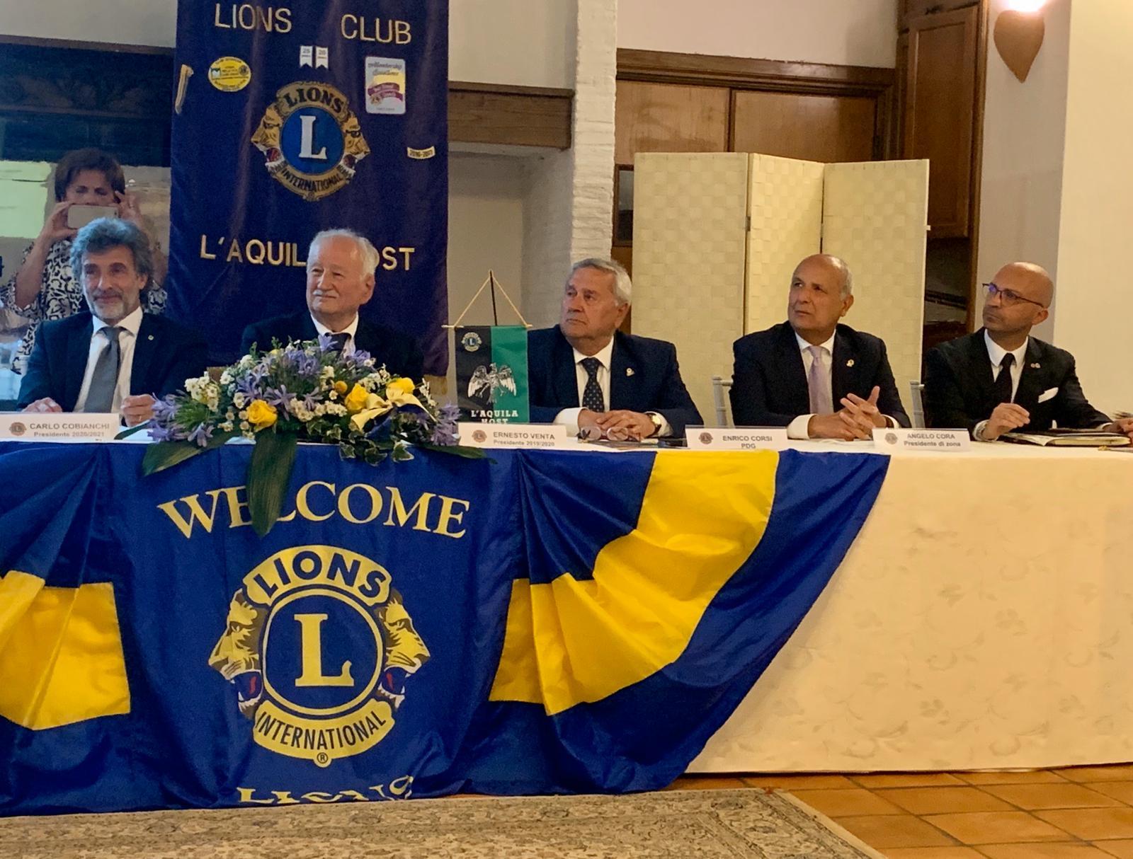 L'Avvocato Carlo Cobianchi è il nuovo Presidente del Lions Club L'Aquila