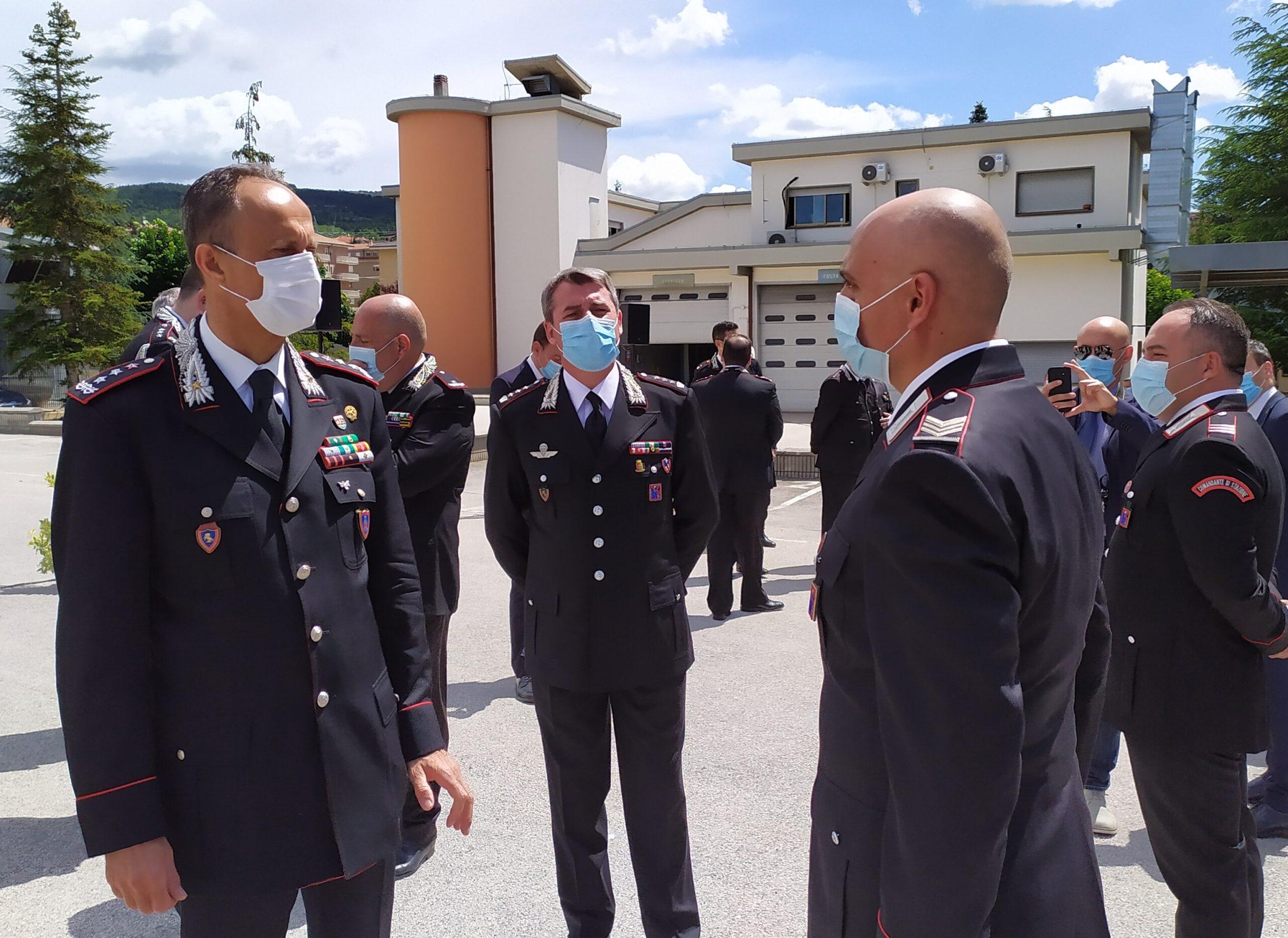 Il comandante interregionale Ogaden in visita a L'Aquila, incontro anche con il carabiniere ferito ad Avezzano