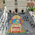 """""""Florales"""" 2020 a Magliano De' Marsi, 3 quadri davanti la Chiesa di Santa Lucia"""