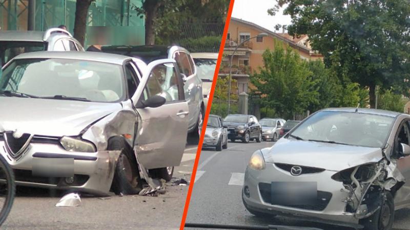 Avezzano, incidente in via Monte Velino coinvolte due auto