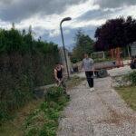 I ragazzi di Scurcola sistemano e ripuliscono volontariamente il Parco Verde