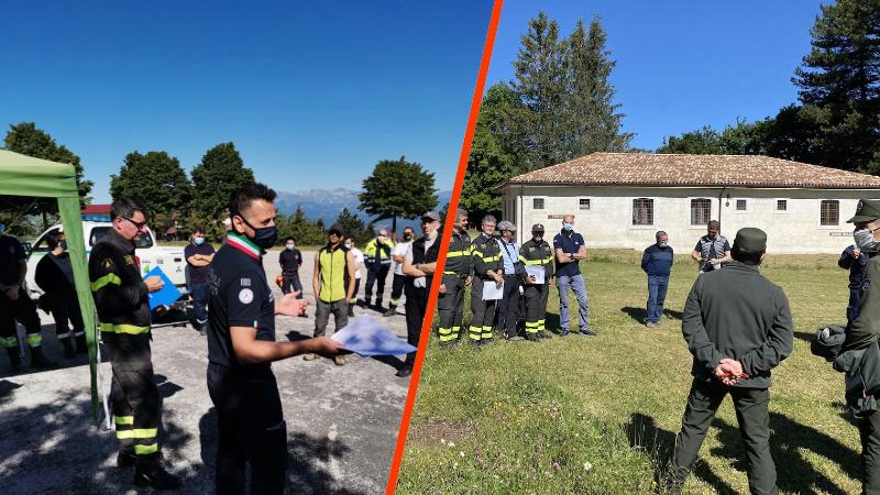 Esercitazioni anti incendio boschivo nei Parchi Nazionali di Abruzzo e del Gran Sasso