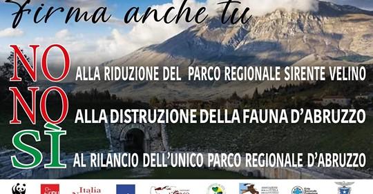 """Petizione on line di WWF Abruzzo """"No alla riduzione del Parco Regionale Sirente Velino"""""""