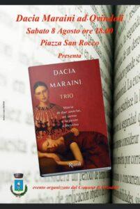 Dacia Maraini ad Ovindoli per presentare il suo ultimo libro