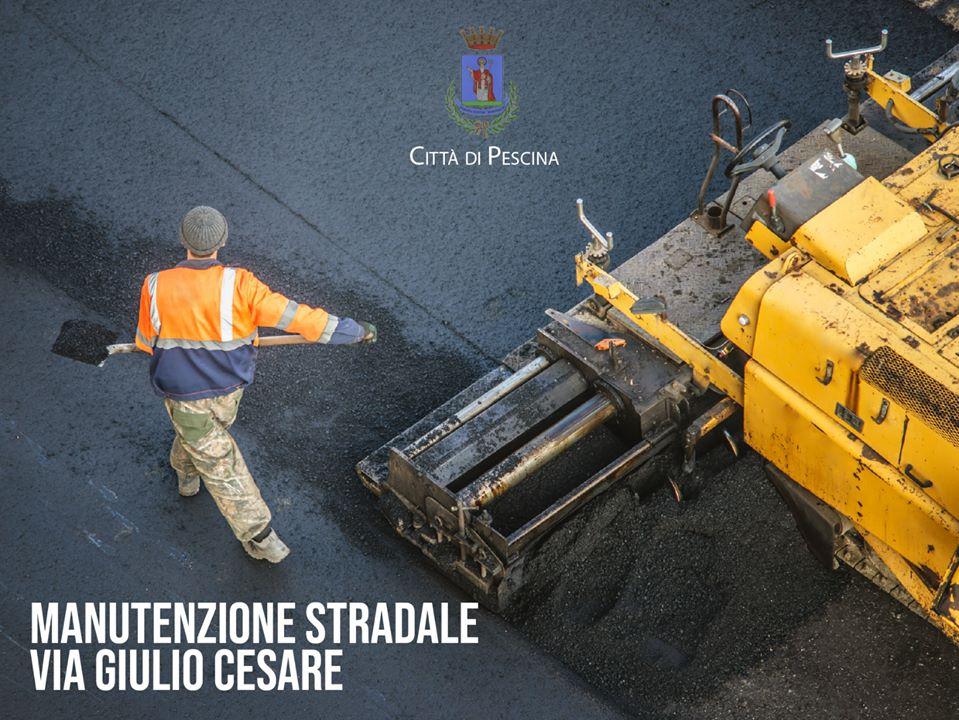 Venere, rifacimento del manto stradale in Via G. Cesare