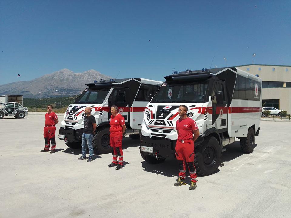Consegnati due nuovi GRAELION BUS al Centro Operativo Emergenze di Avezzano della Croce Rossa Italiana