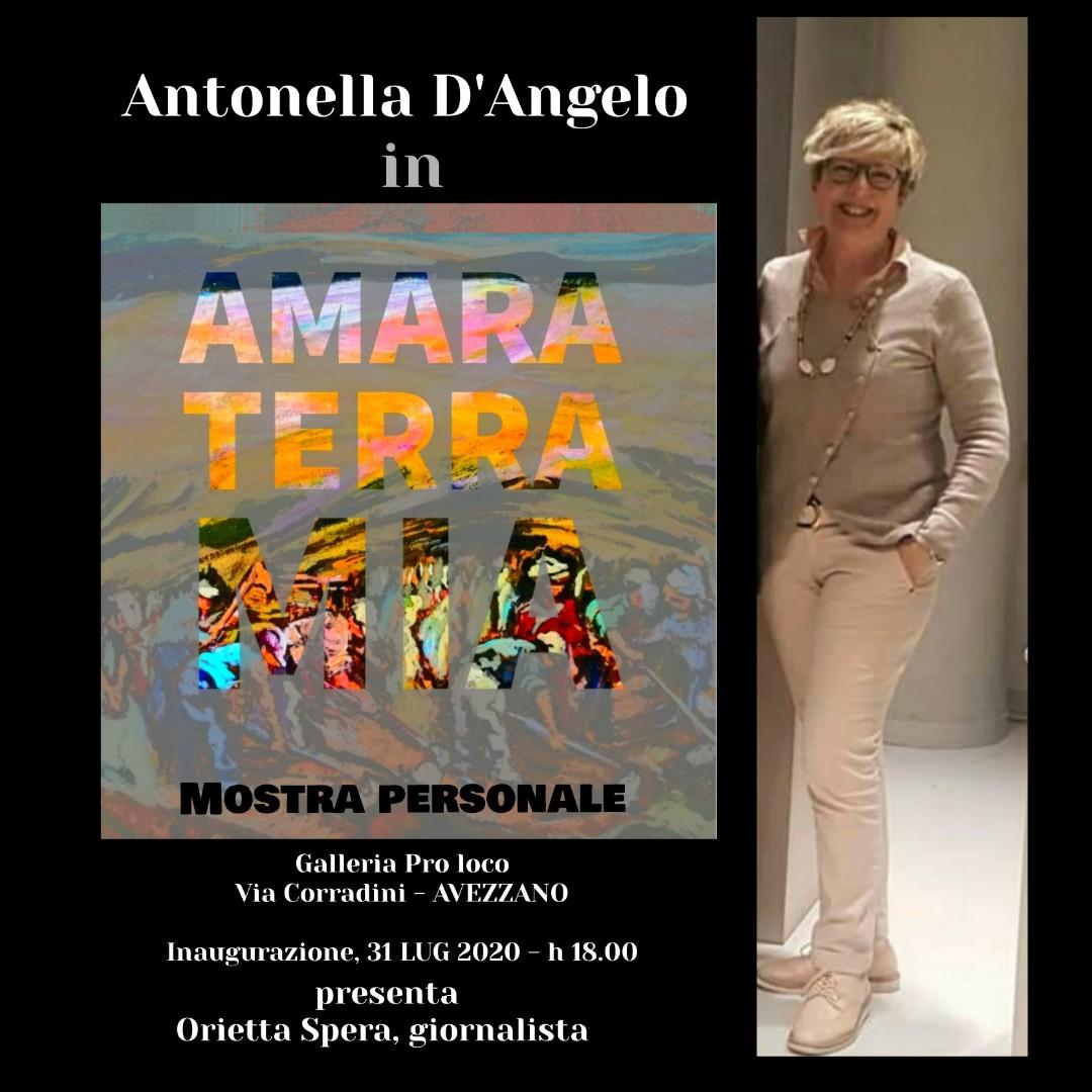 """Inaugurazione della mostra """"Amara Terra"""" dell'artista avezzanese Antonella D'Angelo"""