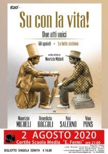 """Il Teatro Off (Limits) saluta la stagione 2019/2020 con """"Su con la vita!"""", due atti unici di Maurizio Micheli"""