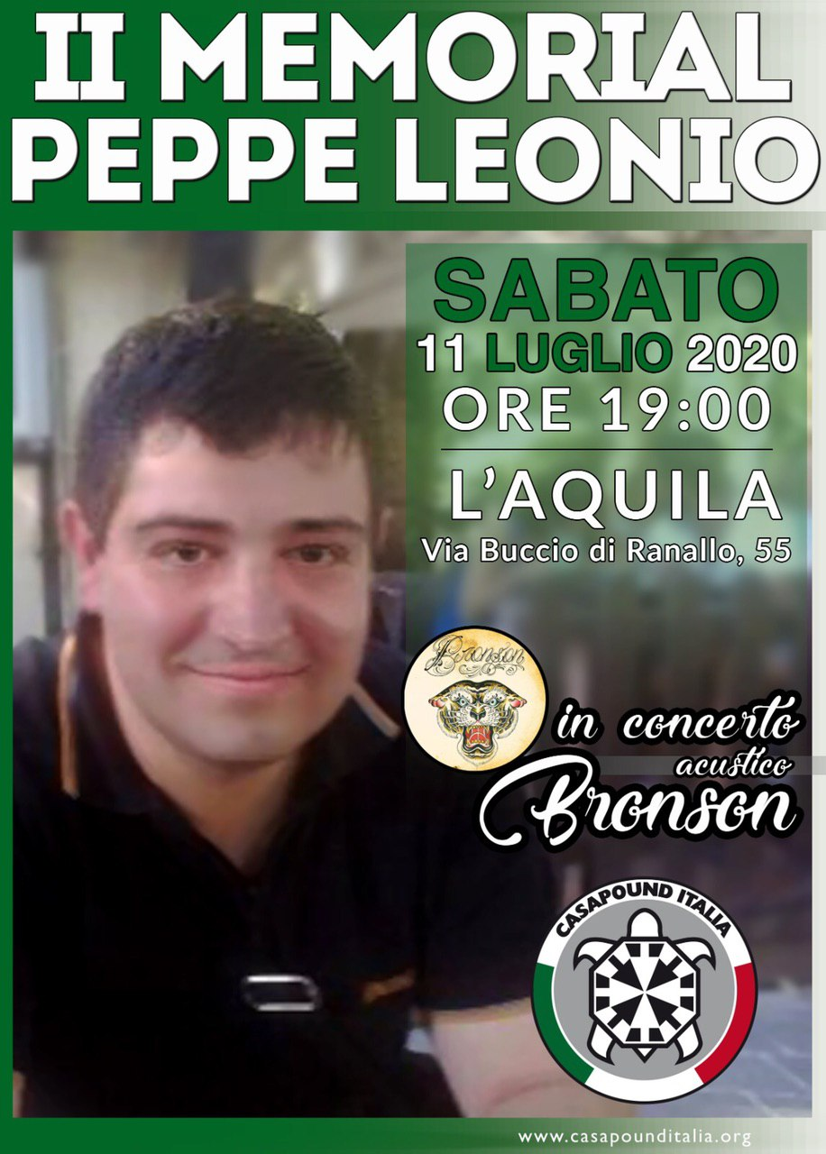 Sabato il memorial di CasaPound in ricordo di Beppe Leonio