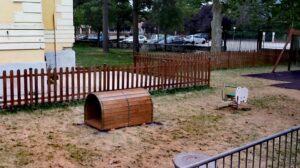 """""""Scurcola dei Bambini"""", nel parco istallato un nuovo gioco nello spazio ricreativo attrezzato per i bambini"""