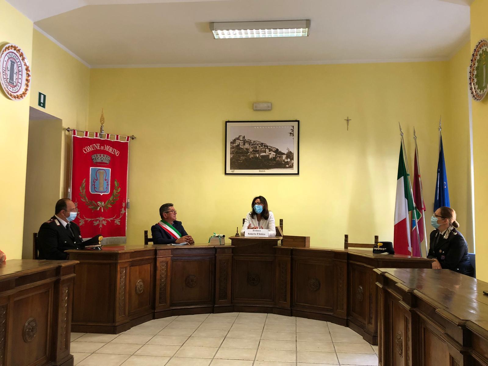 Il Prefetto della Provincia dell'Aquila in visita a Morino