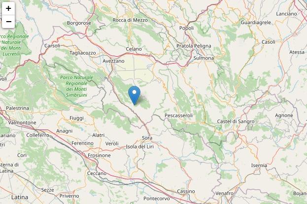 Lieve scossa di terremoto avvertita nella Valle Roveto
