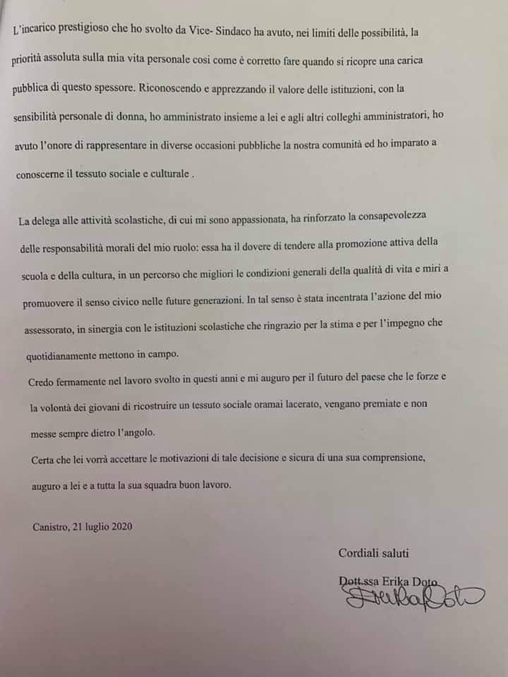 Crisi al Comune di Canistro, la vice sindaco Doto si dimette perché il Sindaco Di Paolo le revoca la delega assessorile