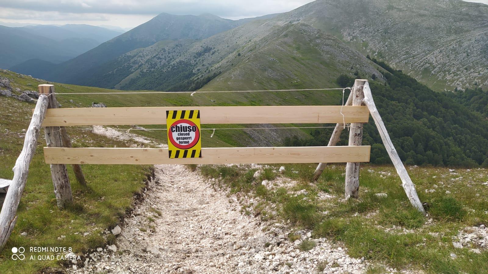 Chiusa traccia ciclabile sul Monte Vitelle: troppo vicina all'area dell'Orso marsicano