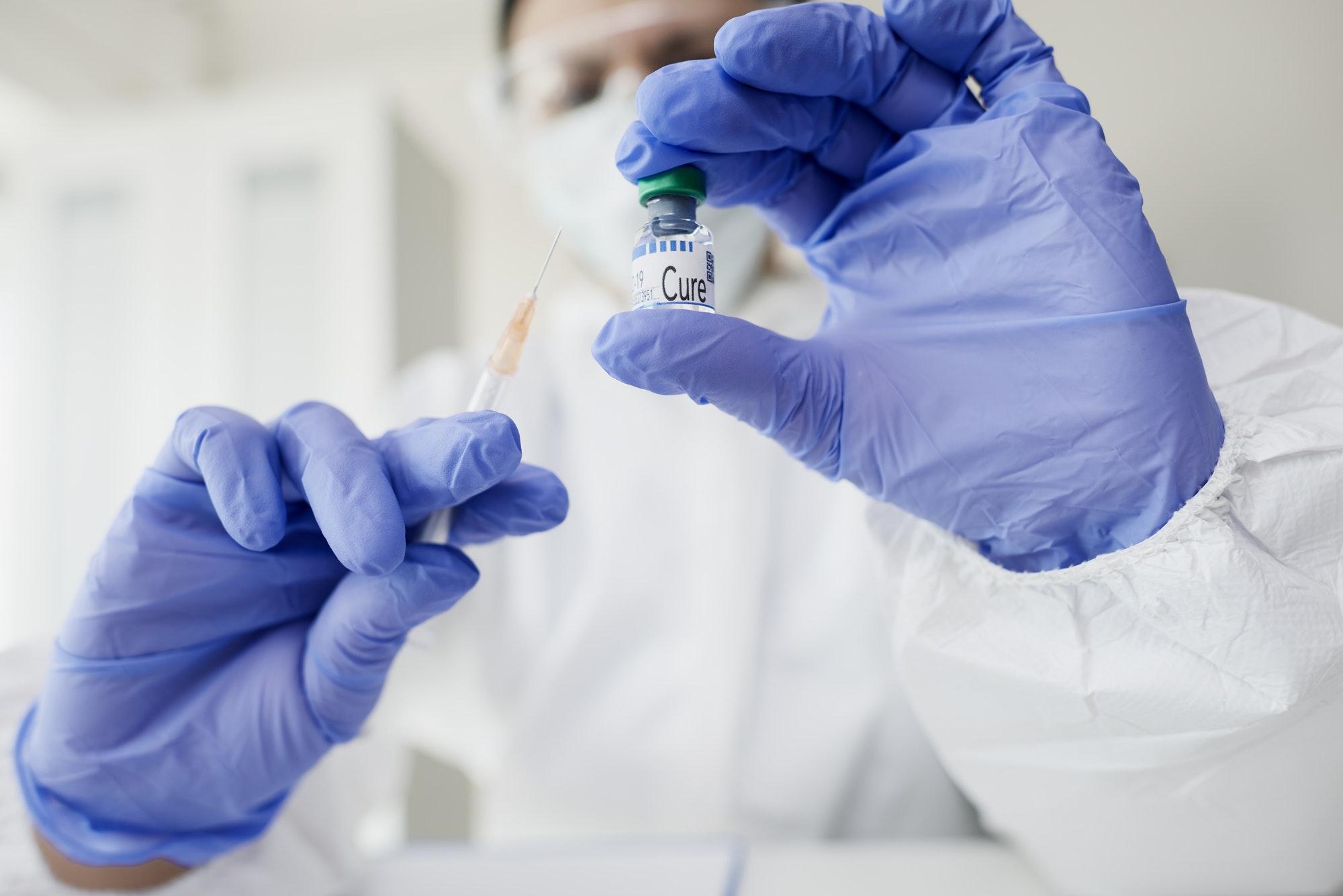 Cure for coronavirus a syringe