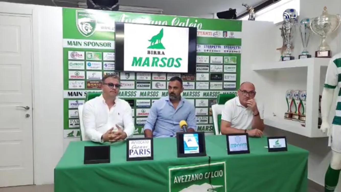 """Avezzano calcio, arriva la presentazione ufficiale del nuovo allenatore Erminio rullo. Paris: """"Cercavo un allenatore che superasse di tanto le mie conoscenze""""."""