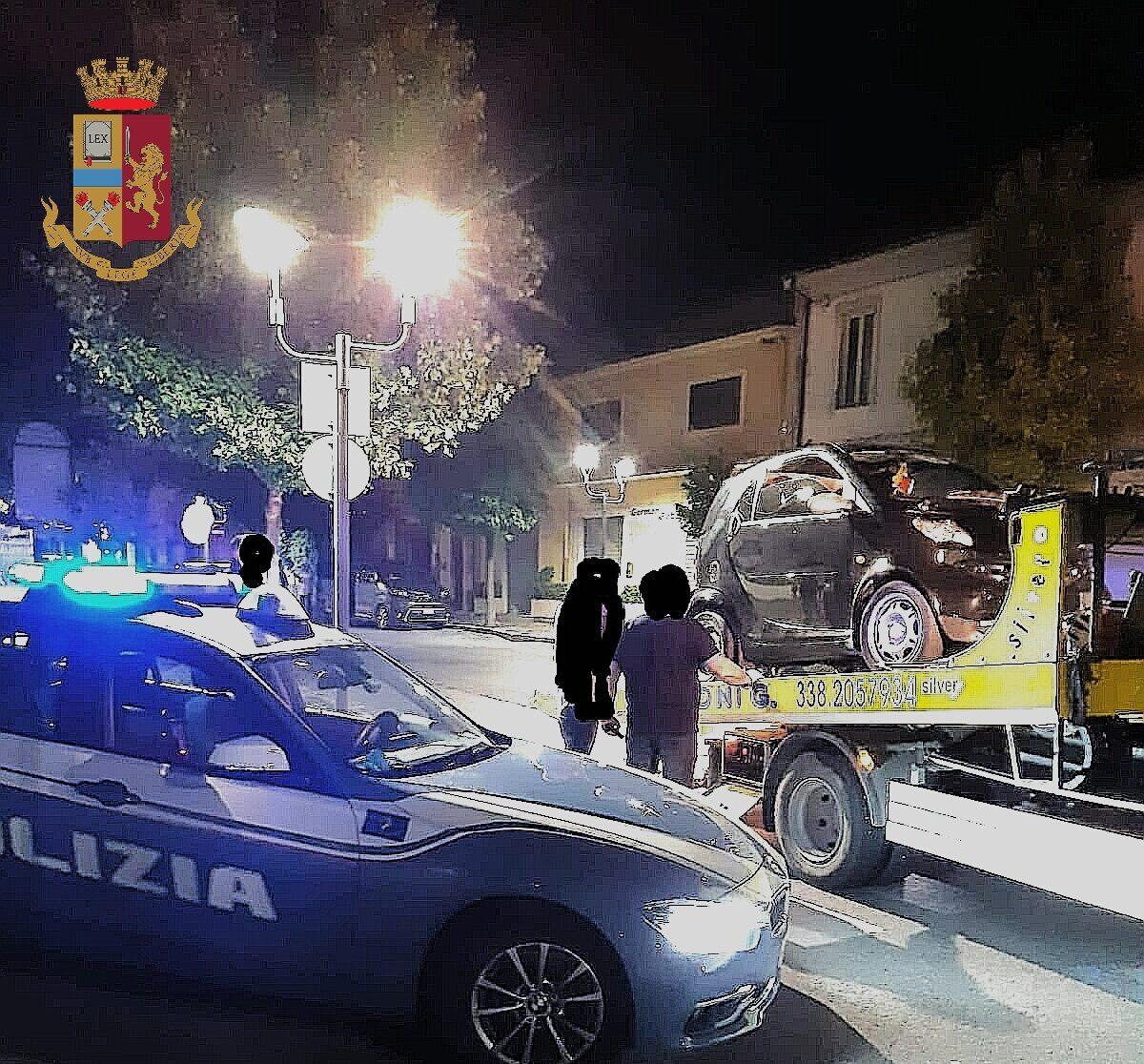 """In giro per Avezzano senza patente e assicurazione, """"beccato"""" dalla Polizia"""
