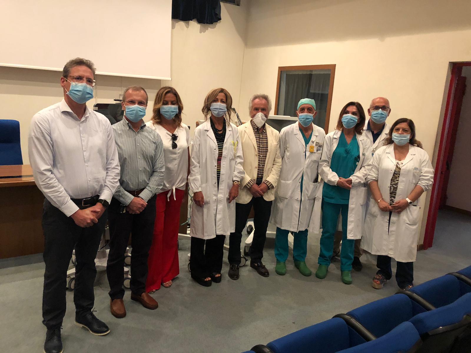 La Saes dona 2 ventilatori e un video laringoscopio al reparto di rianimazione dell'Ospedale di Avezzano