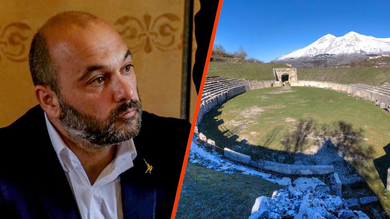 Il candidato sindaco di Avezzano Tiziano Genovesi punta sul rilancio del sito di Alba Fucens