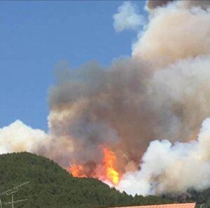 Incendio al Parco Nazionale del Gran Sasso