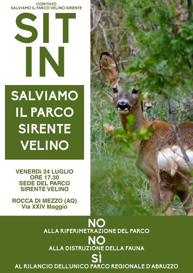 """Il Comitato """"Salviamo il Parco Regionale Sirente Velino"""": il 24 luglio sit-in di protesta contro il progetto di riperimetrazione dell'area protetta"""